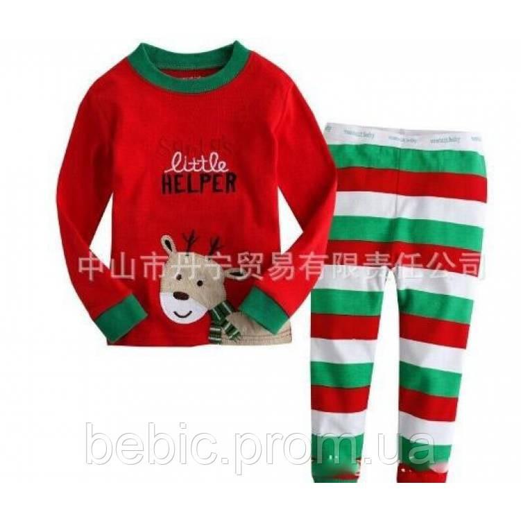 Пижама детская новогодняя Рост: 90-120 см
