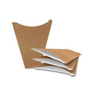 Упаковка для блинов макси Крафт 145/60х180 мм бумажная 50 шт
