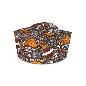 Коробка для лапши и салатов (пастабокс,лапшакап) 1,2 л Темная