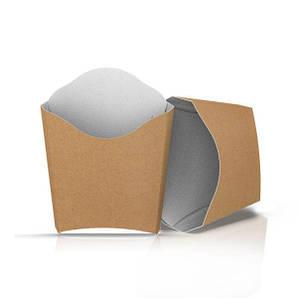 """Упаковка для картофеля фри """"Мини"""" (90 грамм) Крафт 85х24х68 мм 50 шт бумажная"""