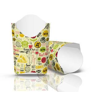"Упаковка для картофеля фри ""Миди"" (120 грамм) Светлая 91/77х121мм 50 шт"