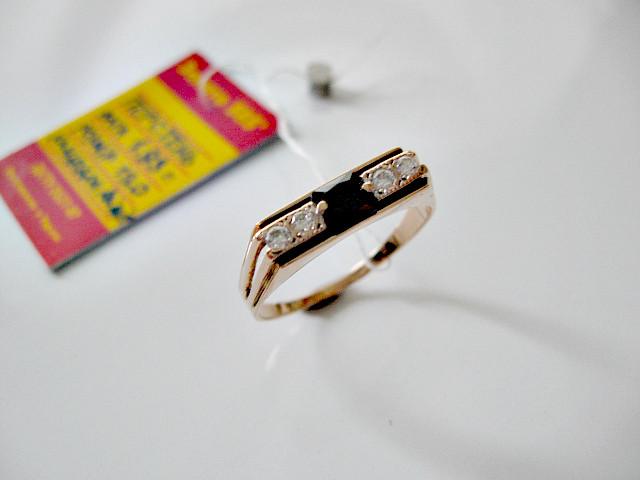 Мужской перстень печатка из Халцедоном - 1.93 грамма 19 мм. Золото 585 пробы
