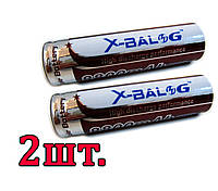 2шт Аккумулятор Li-Ion X-BALOG 18650 8800 mAh 4.2V