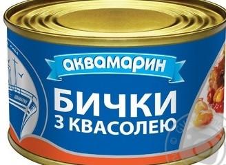 Бички обсмажені в томатному соусі 240 грам ТМ Аквамарин