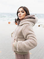 Двусторонняя женская куртка-бомбер