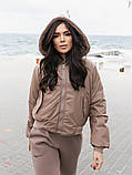 Двусторонняя женская куртка-бомбер, фото 8