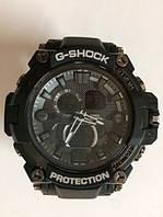 Часы наручные с подсветкой G-SHOCK Casio20BR Черные-Серый циферблат(тех упаковка)