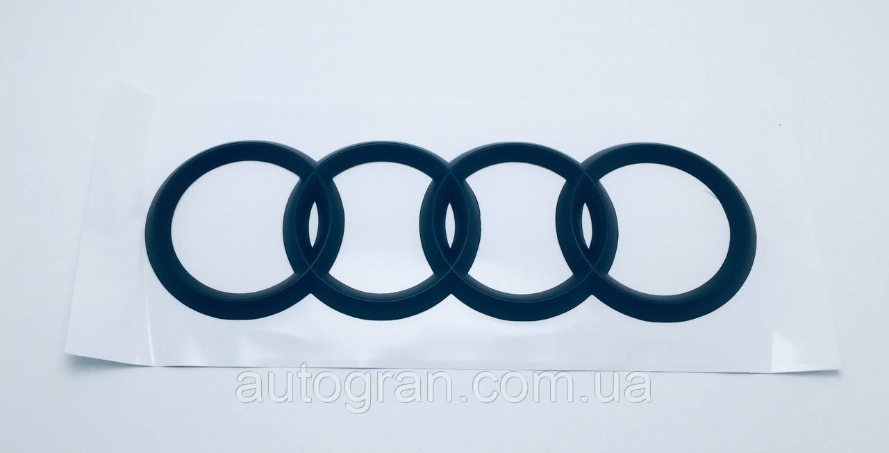Эмблема багажника Audi чёрная