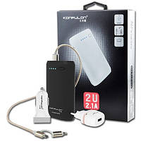 "POWERBANK  Набор 7800 mAh+СЗУ+АЗУ(USB)+Кабель 2в1(Micro+Iphone)""KONFULON"" Black"
