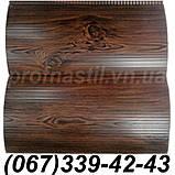 Сайдинг металлический под доску Темный дуб 067-339-42-43 (шир. 0,35 м), фото 5