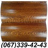 Сайдинг металлический под доску Темный дуб 067-339-42-43 (шир. 0,35 м), фото 8