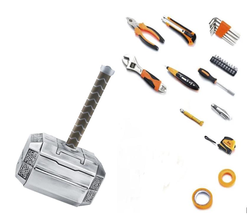 Набор инструментов в виде Молота Тора (кейс) ABC - лучший подарок мужчине