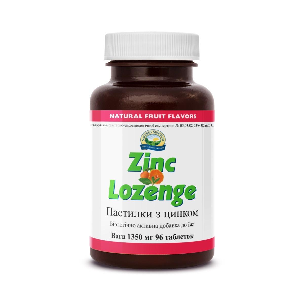 Zinc Lozenge Пастилки с цинком, NSP, США