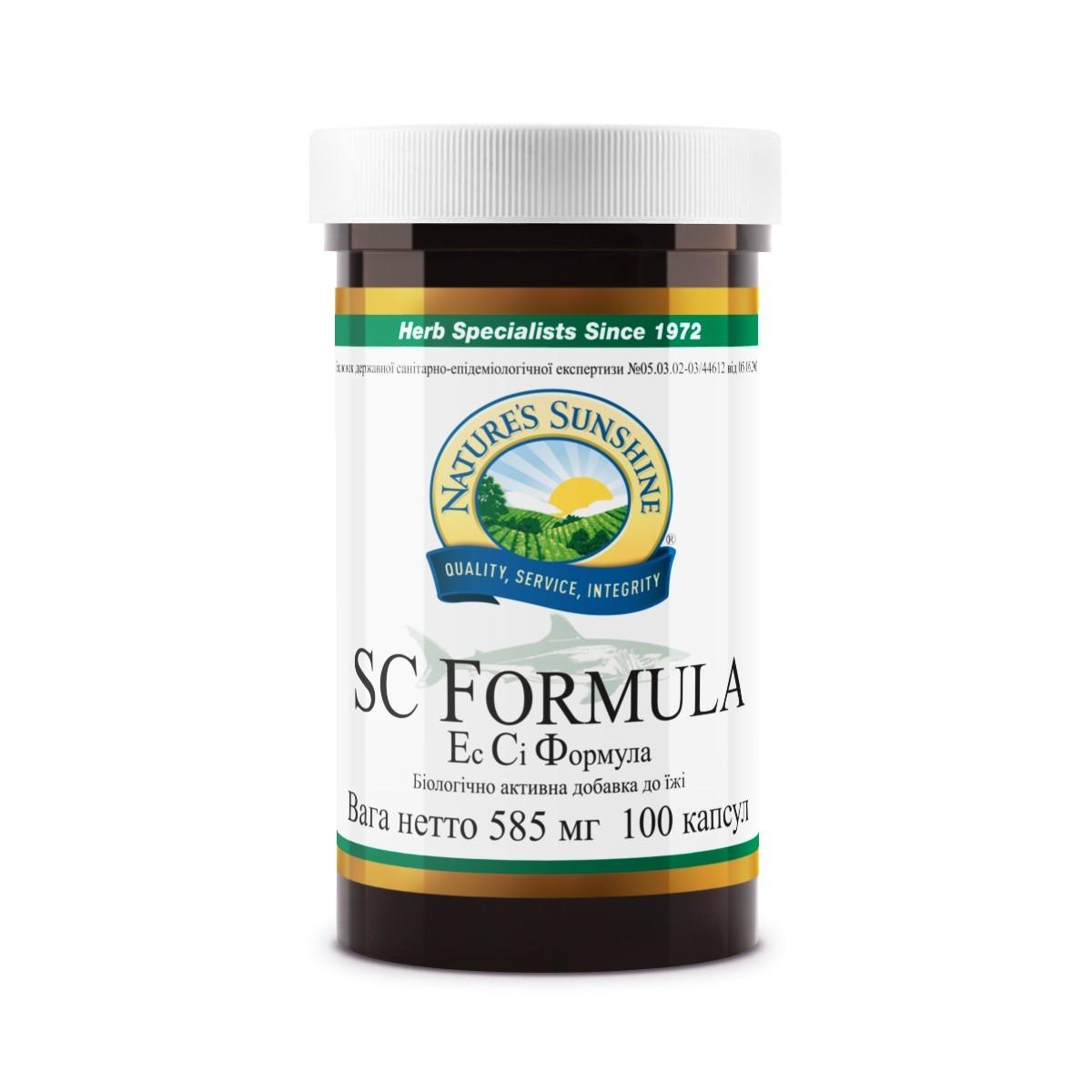 SC Formula Эс Си Формула, NSP, НСП, США. Антибактериальное и антигрибковое воздействие, защита суставов.