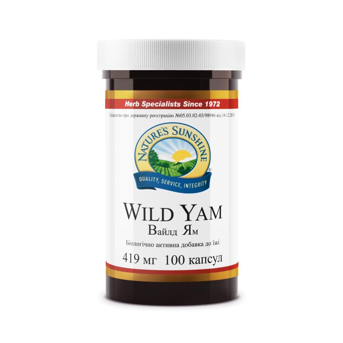 Wild Yam Дикий Ямс, НСП, NSP, США.  Нормализует гормональный статус женского организма.