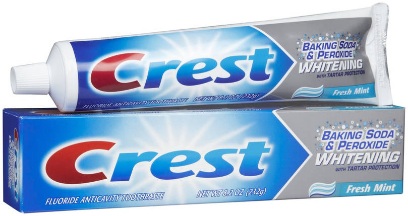 Отбеливающая зубная паста Crest Baking Soda & Peroxide Whitening, фото 2