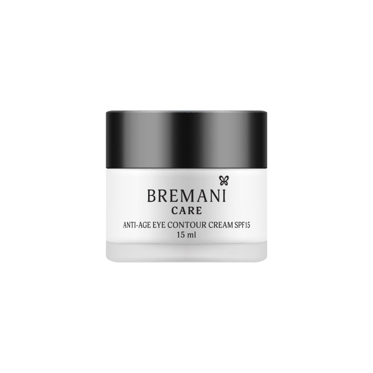 Anti-age Eye Contour Cream SPF15 Антивозрастной крем для кожи вокруг глаз SPF15 40+,    Bremani, 15ml