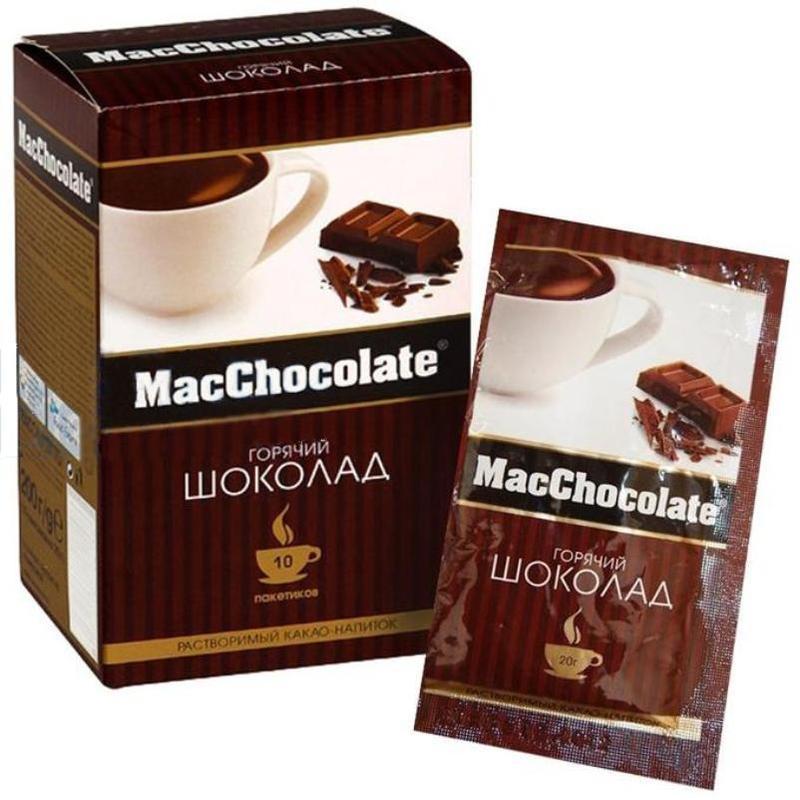 Горячий шоколад MacChocolate 10 пакетиков по 22 грамм