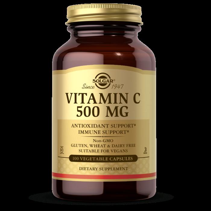Витамин С 500 мг, Солгар, Vitamin C, 500 mg, Solgar, 500 мг, 100 вегетарианских капсул