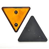 """Катафот триугольный жёлтый 170х140х7 (c рамкой) """"YUCE"""" YP-11"""