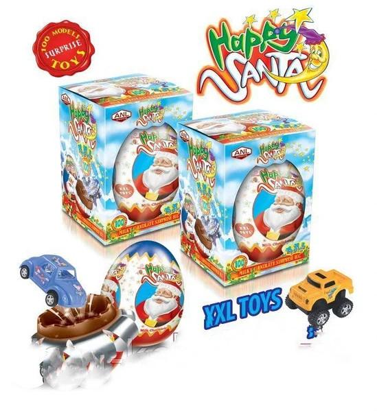 "Шоколадные яйца ""Happy Santa "" 115 грамм 9 шт"