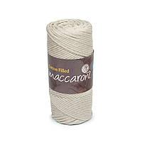Трикотажный хлопковый шнур Cotton Filled 3 мм, цвет Лен