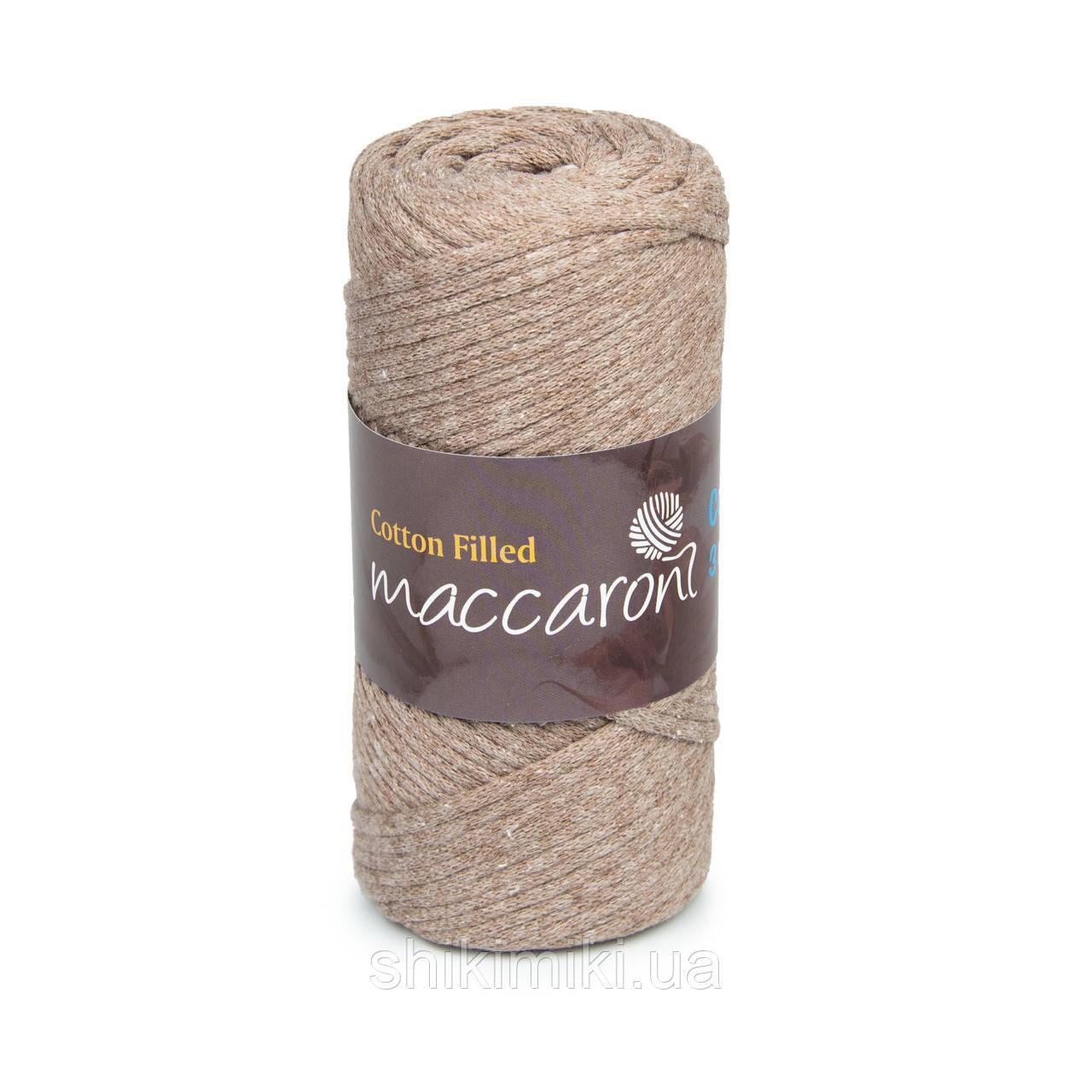 Трикотажный хлопковый шнур Cotton Filled 3 мм, цвет Капучино