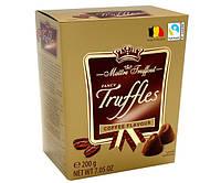 Конфеты Maitre Truffout Truffles coffee Изысканный трюфель Кофе 200 г.