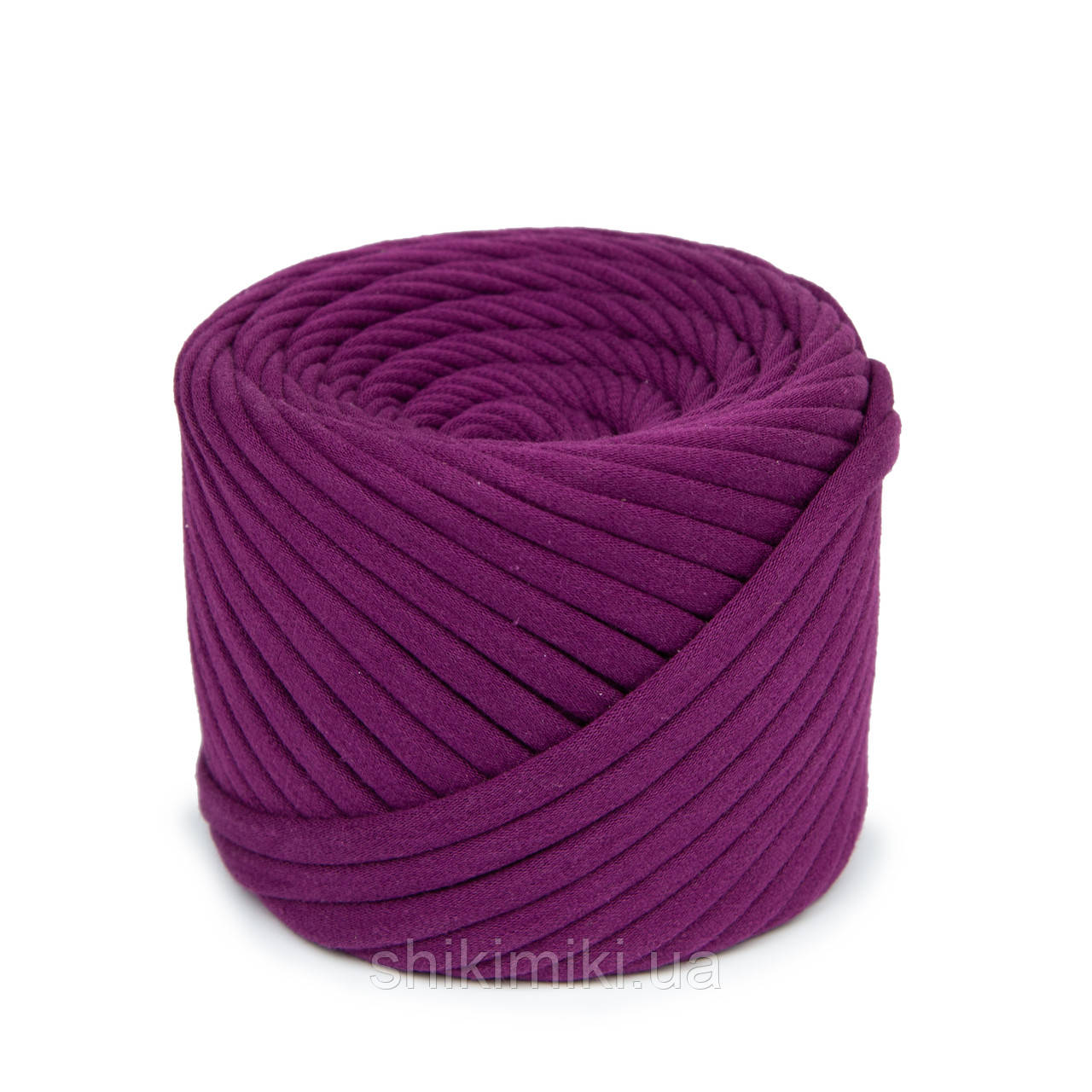 Пряжа трикотажна Bobilon (50 м), колір Сливовий