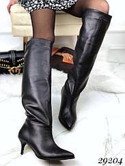 Еврозима, сапоги без молнии на небольшом каблуке NINAMI В наличии и под заказ