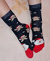 Детские махровые носки Новогодние, разные цвета. Размер 20-22 (7-11 лет), фото 1