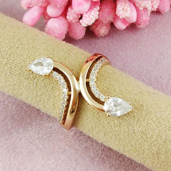 Кольцо Xuping Jewelry размер 17 Ирис медицинское золото позолота 18К А/В 2-0382