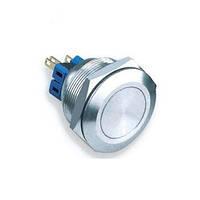 Выключатель антивандальный металл. круглая D=19мм L=25мм (Китай) RH-37
