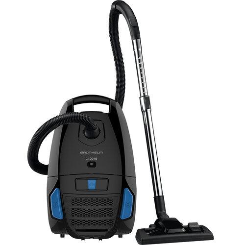 Пылесос для сухой уборки Grunhelm GVCM244BB (черно-синий) с мешком 2.4 кВт