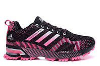 Женские кроссовки Adidas Marathon Flyknit pink-black, фото 1