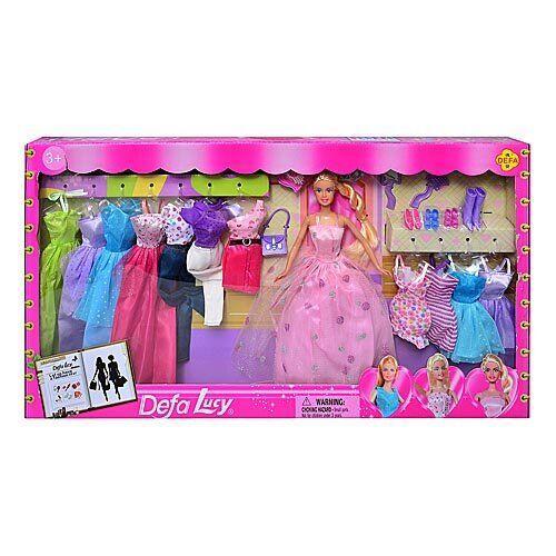 Детская кукла Defa с нарядами (8193)