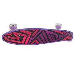 Скейт Profi Penny 56 см. Фиолетовый (MS 0749-1)