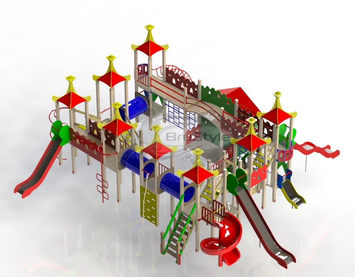 """Дуже Великий Ігровий комплекс """"Бастіон Людей"""". Ігрове Містечко. Дитячий Місто і замок."""