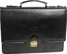 Портфель из качественной натуральной кожи Rovicky AWR-2 черный, фото 2