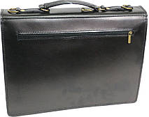 Портфель из качественной натуральной кожи Rovicky AWR-2 черный, фото 3