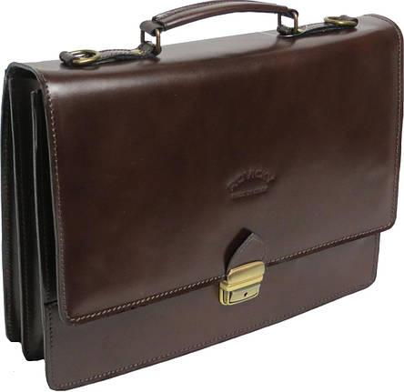 Мужской портфель из натуральной кожи Rovicky AWR-2-2 коричневый, фото 2