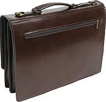 Мужской портфель из натуральной кожи Rovicky AWR-2-2 коричневый, фото 3