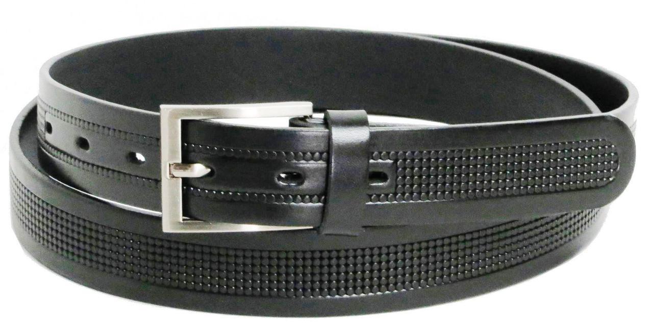 Брючный классический ремень Rovicky PLW-R-14 черный 3 см
