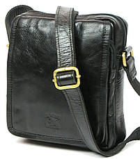 Мужская кожаная сумка Always Wild 5031 черная, фото 2