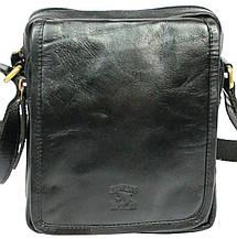 Мужская кожаная сумка Always Wild 5031 черная, фото 3
