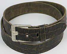 Женский кожаный ремень под рептилию, Tom Tailor, Германия, коричневый, фото 2