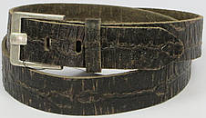 Женский кожаный ремень под рептилию, Tom Tailor, Германия, коричневый, фото 3
