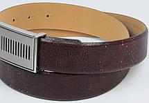 Мужской кожаный ремень Vanzetti, Германия коричневый, фото 2