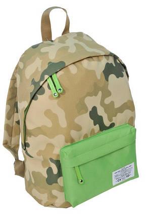 Городской рюкзак Paso CM-222B камуфляж/зеленый 15 л, фото 2