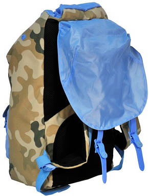 """Рюкзак для ноутбука 15,6"""" Paso CM-192B камуфляж/голубой 25 л, фото 3"""